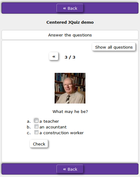 centered multi-select in HotPotatoes JQquiz
